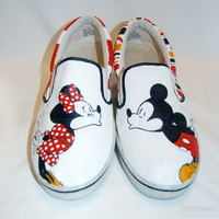 Mickey & Minnie Shoes (Hand Painted)
