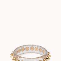 Edgy Spiked Clear Bangle