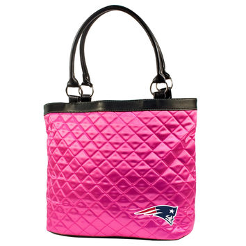 New England Patriots Pink Quilted Tote