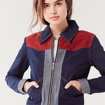 UO Western Colorblock Gas Jacket | Urban Outfitters