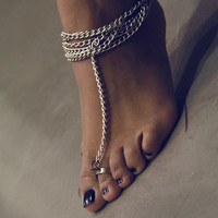 Haati Chai Barof Toe Ring-Anklet