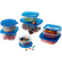 54 Piece Microwavable Plastic Food Storage Containers Set with Lids