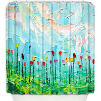 Artistic Shower Curtains by DiaNoche Designs, Stories From a Field Act lxxxi