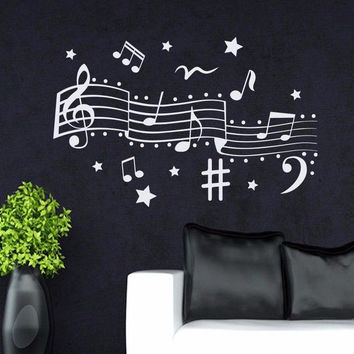 Wall Decals Treble Clef Music Notes Decal Home Bedroom Vinyl Sticker Decor MR519