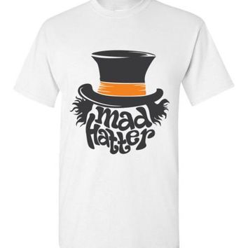 Mad Hatter Top Hat T-shirt