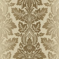 Brewster Home Fashions Pompei Syracuse Leafy Damask Wallpaper Sample