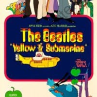 Yellow Submarine Movie Poster Insert 14x36 #01