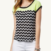 Chevron Neon High Low Top