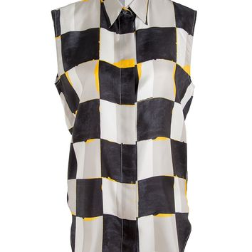 Acne Studios Tricia Sleeveless Silk Shirt