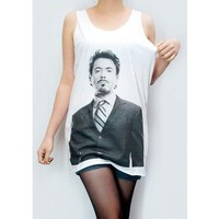 ROBERT Downey Jr Shirt Women Shirt Iron Man Shirt Tunic - Shop Tanks & Camis at RebelsMarket