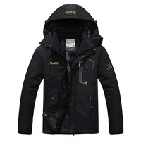 Large Outdoor Winter Jacket w/ Windproof Hood