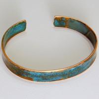 Upcycled Rustic Copper Cuff