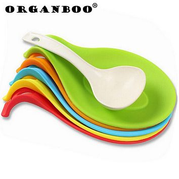 SALE !! Kitchen Cooking Tools Silicone Spoon Fork Mat Shelf Spoon Rests & Pot Clips Holder Organizer Colher De Silicone