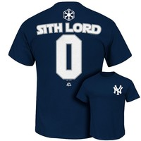 Majestic New York Yankees Star Wars Sith Lord Name and Number Tee