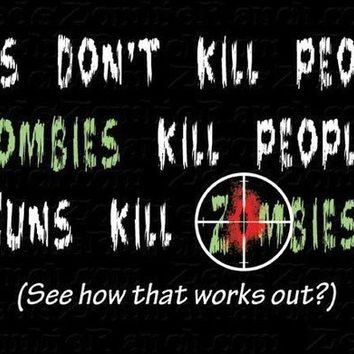 Guns Don't Kill People Zombie MENS Long Sleeve by zedszombieranch