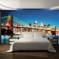 New York East River Mural Wall Decal