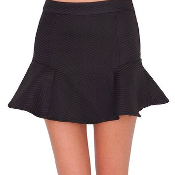 Small Secret Fit & Flare Skirt - Black