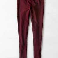 AEO Women's Hi-rise Legging (Deep Plum)