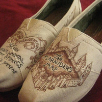 Custom Harry Potter Marauder's Map Toms by Gryfindor on Etsy