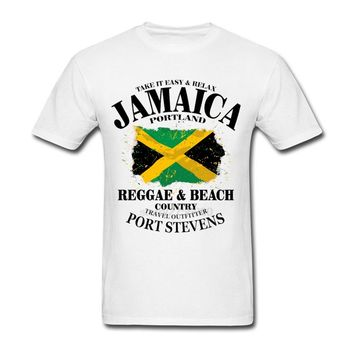 Madrid Reggae & Beach Country Jamaica Portland Flag Men T Shirts Tops Tees reles 2017 Camisetas real Funny Jamaica print madrid