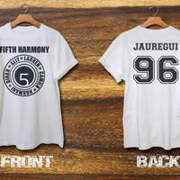 fifth harmony shirt 5th harmony shirt lauren jauregui shirt black grey and white color 2 side print area S-XXL size available