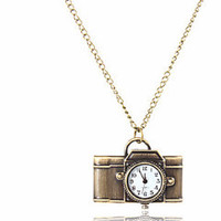 'Time Traveler' Camera Clock Necklace