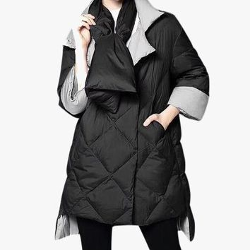 Quilted Down Puffer with Puffer Scarf