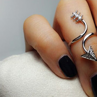 Cute Arrow ring Adjustable Gold Silver