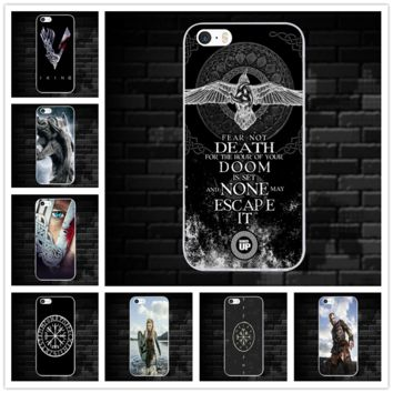 Hot Vikings Ragnar Cross Soft TPU Mobile Phone Accessories Silicone Cases for iPhone 8 7 6 6S Plus X 5 5S SE 5C 4 4S Coque Bags