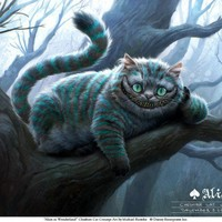 Cheshire Cat Alice in Wonderland Concept Art