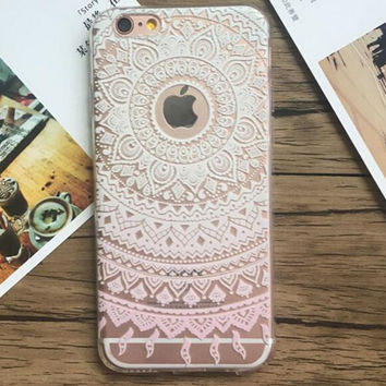 Womens Transparent Lace iPhone 5s 6 6s Plus Case Ultrathin Cover Free Gift Box 37