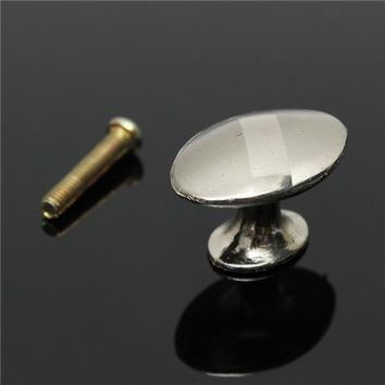 30mm Stainless Steel Zinc Satin Knob Cabinet Door Drawer Cupboard Pull Handle With Screw
