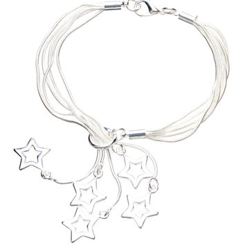 Shooting Star Bracelet Sterling Silver Plated 925