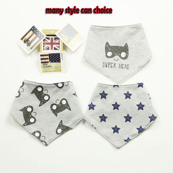 3 Pcs High Quality Fashion Brand Newborn Baby Bibs Waterproof Kids Girls And Boys Cotton Triangle Children Feeding Accessories