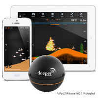 Deeper Smart Portable Fishfinder f/Smartphone or Tablet - Wall Charger Not Included (USB Charger Only)
