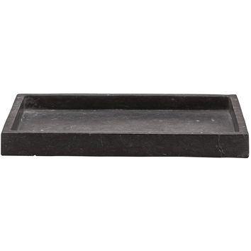 Hammam Dark Gray Marble Bathroom Vanity Countertop Guest Towel, Organizer Tray