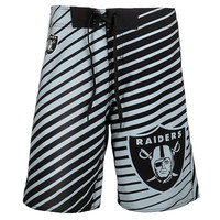 Oakland Raiders Official NFL Stripes Boardshorts