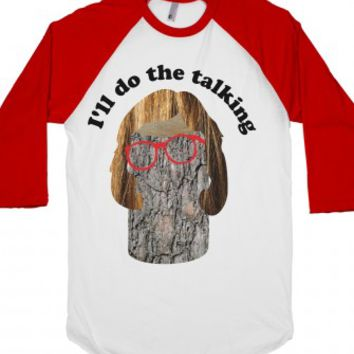 Log, Log Lady-Unisex White/Red T-Shirt