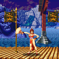 Fatal Fury 2 Mai Shiranui stage video game poster