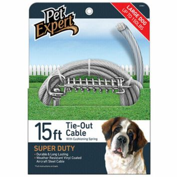 Pet Expert® PE223861 Large Dog Tie Out, 15'