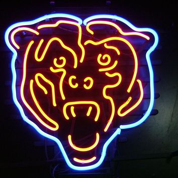 Chicago Bears NFL Football Sports Neon Sign Real Neon Light