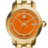 Women's Tory Burch 'Tory' Large Round Bracelet Watch, 37mm