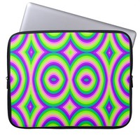 Bright Purple Green Abstract Computer Sleeve