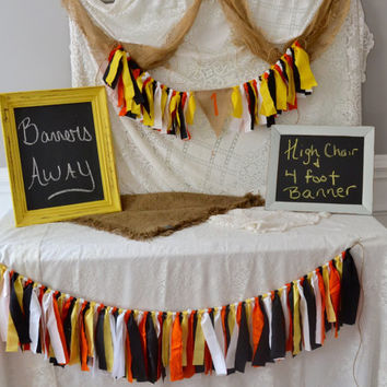 construction theme party collection - high chair banner and 4 foot banner set -  cake smash set - boy birthday set - boy birthday collection