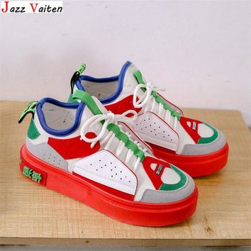 Jazz Vaiten new color China popular style women streetwear  hiphop Skateboarding Shoes stitching lady Sneaker Torre shoes