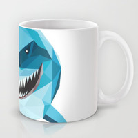 S is for Shark Mug by LinnMaria_ink