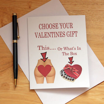Valentines Card, Card For Boyfriend, Naughty Card, Butt Card, Dirty Card, Card For Husband, Gift For Him, Mature Humor, Sexy card, Adult