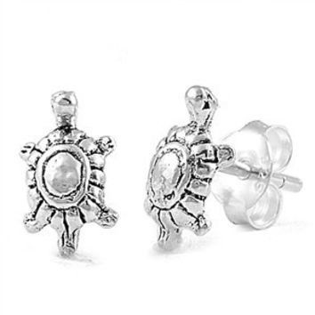 Sterling Silver Classic Turtle Stud Earrings