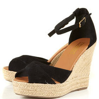 WHISTLE Cross Strap Wedges - Heels  - Shoes  - Topshop USA