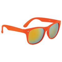 Solid Mirror Wayfarer - Neon Orange